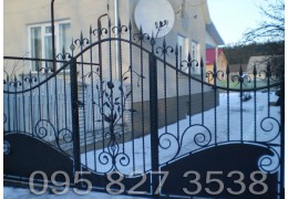 Ворота кованые Роза