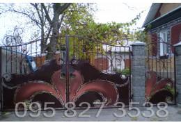 Ворота кованые Сова