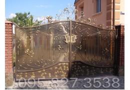 Ворота кованые Хром