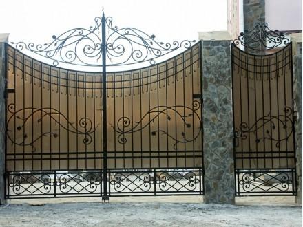 Кованые ворота Шерри с калиткой