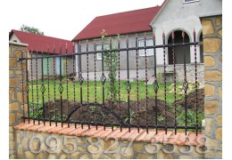Забор кованый Калина
