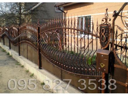 Забор кованый Волна - 2